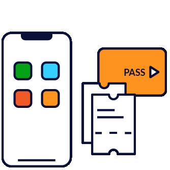 La vente et validation dans les applications les plus pertinentes : information voyageur, service de mobilité, ville, banque, ...