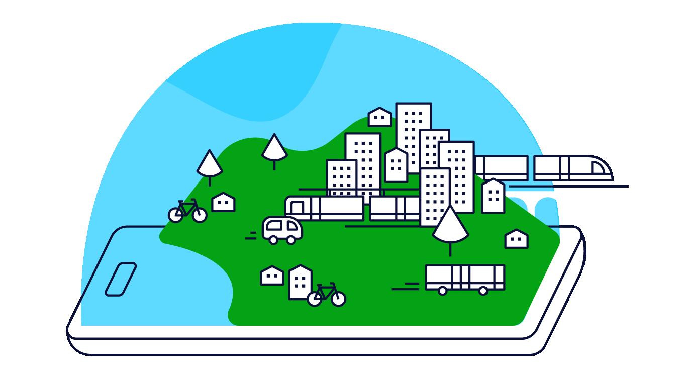Mobeepass sert vos projets MaaS en facilitant l'accès à un bouquet de services de mobilité